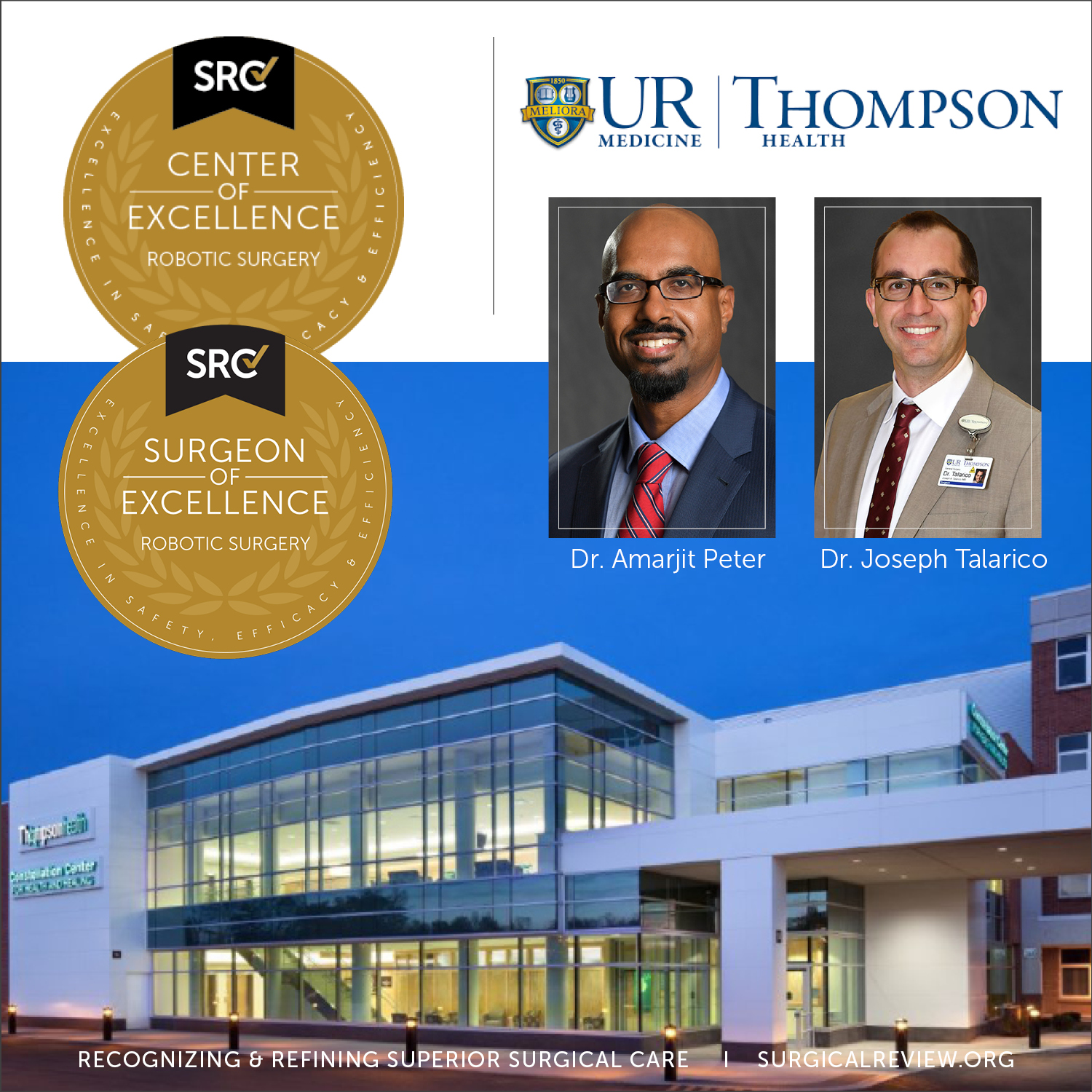 SRC accredited Center of Excellence in Robotic Surgery